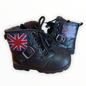Baby Union Flag Combat boots